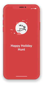 phone with scavify holiday hunt